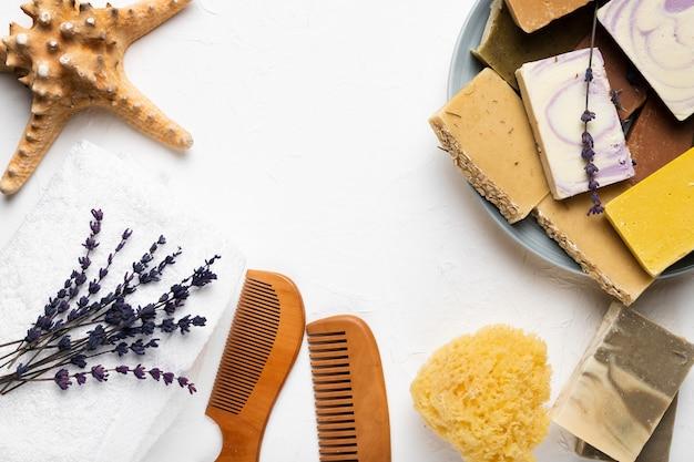 Produits d'hygiène et d'hygiène au spa