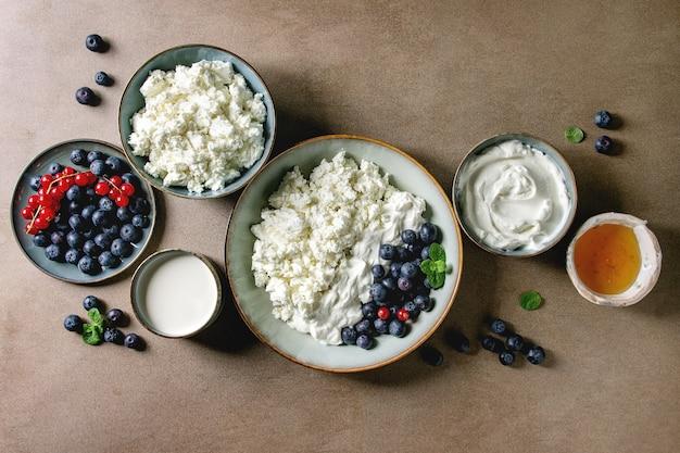 Produits laitiers au petit déjeuner
