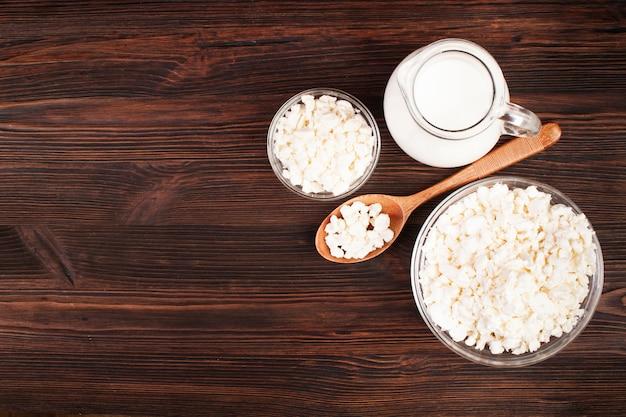 Produits laitiers frais à plat