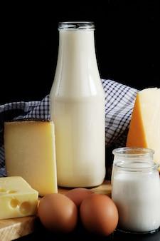 Produits laitiers lait, fromage et œufs