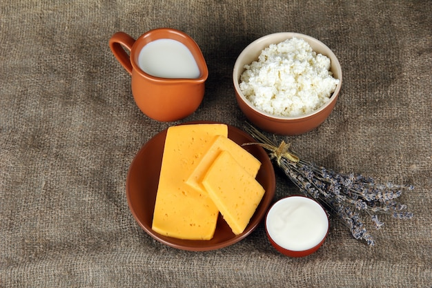 Produits laitiers en sac