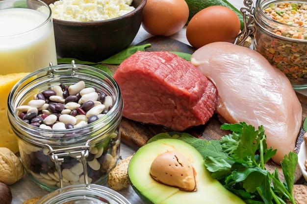 Produits naturels riches en vitamine b6 et en protéines