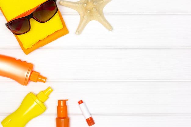 Produits de protection solaire pour le visage et le corps espace de copie cosmétiques de protection solaire