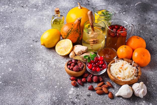 Des produits sains pour renforcer l'immunité