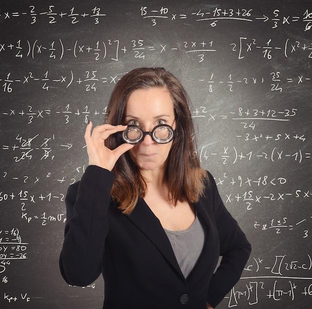 Professeur de maths nerd