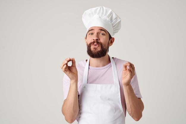 Professionnels de restaurant de cuisine uniforme de chef