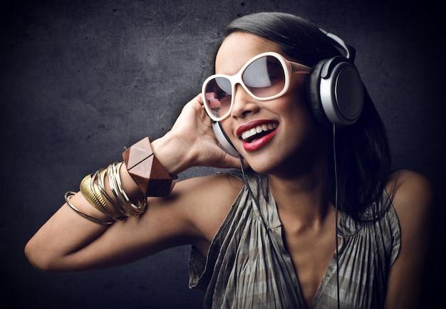 Profitant de la musique