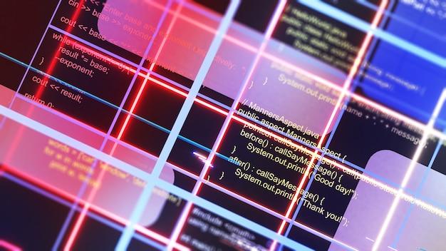 Programmation d'un système à l'aide d'un langage de programmation.