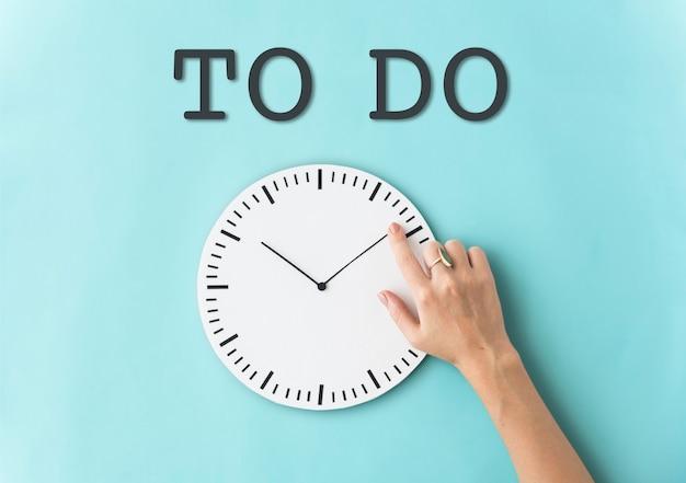 Programmer l'heure du réveil concept