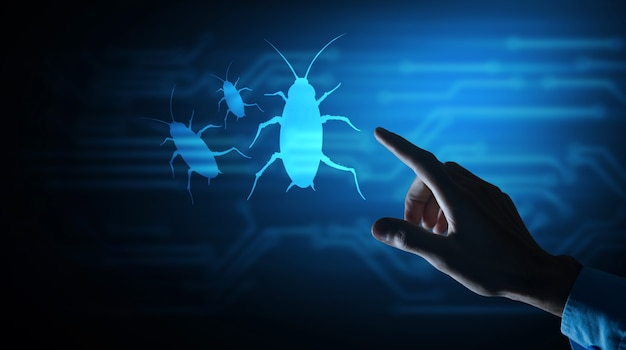 Programmes nuisibles icône de virus informatique