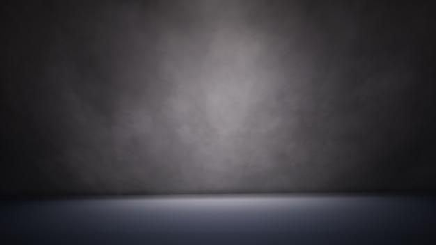 Projecteur et fumée illustration 3d