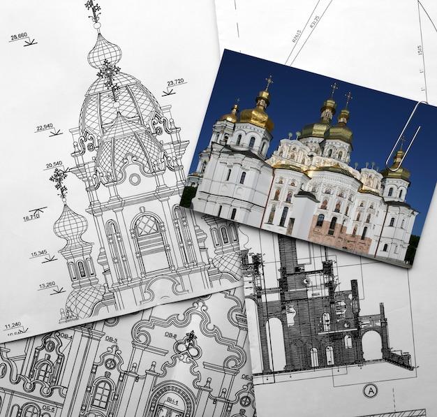 Projet architectural de l'église chrétienne