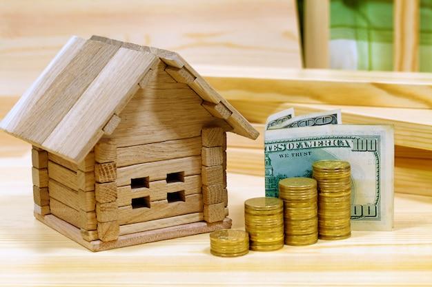 Projet confortable maison. crédit pour la construction d'une nouvelle maison en dehors de la ville.