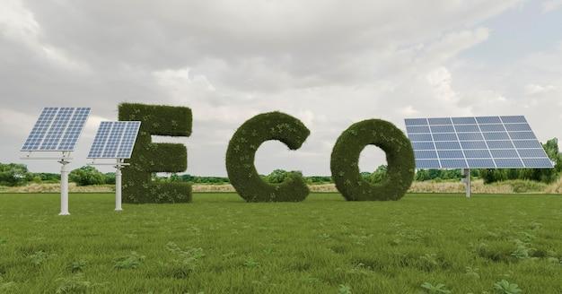 Projet écologique 3d pour l'environnement