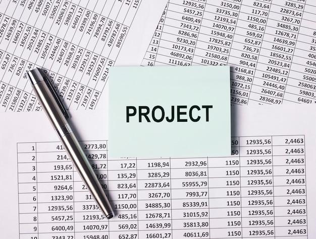 Projet de mot, concept d'entreprise, de travail et financier.