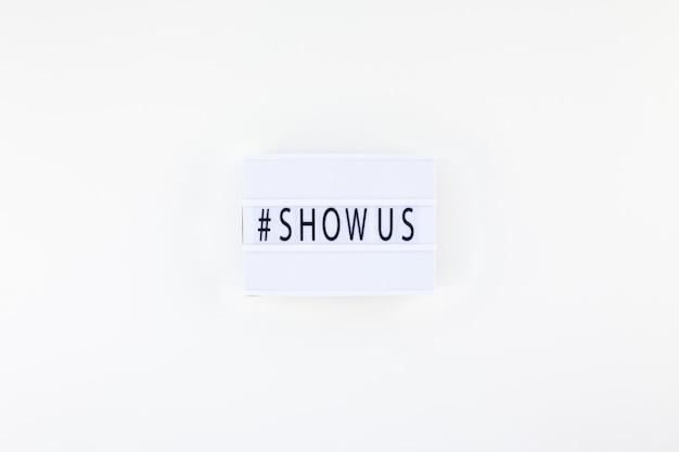 Projet show us concept avec lightbox