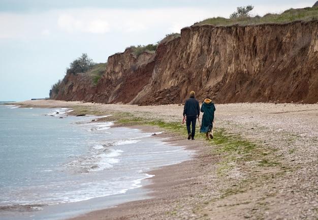 Une promenade sur la plage avec un chien