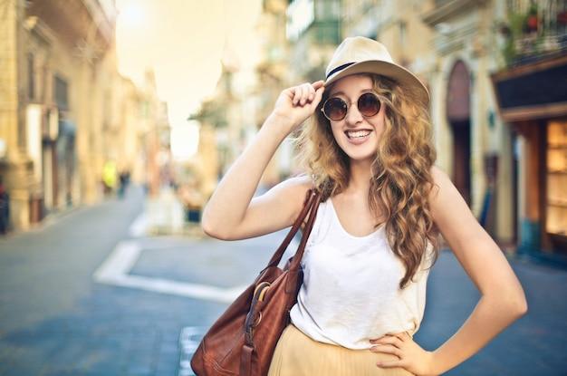 Promenade en ville en été