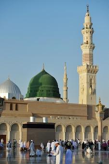Prophète muhammed mosquée sacrée à médine, arabie saoudite