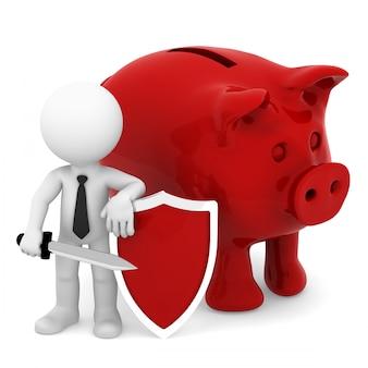 Protection des finances. isolé