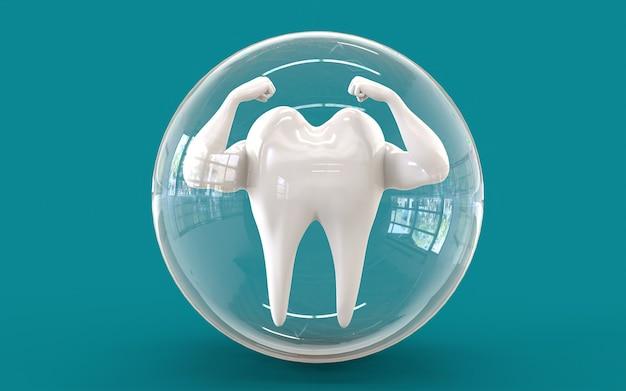 Protection orale contre covid 19. rendu 3d.