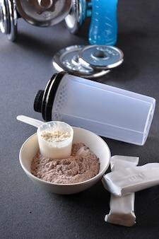 Protéines de lactosérum goût vanille et chocolat