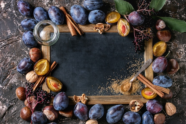 Prunes et noix au tableau