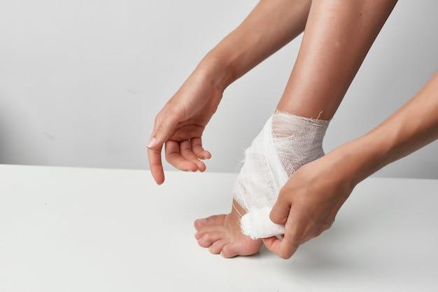 Psychothérapie de problèmes de santé de jambe bandée