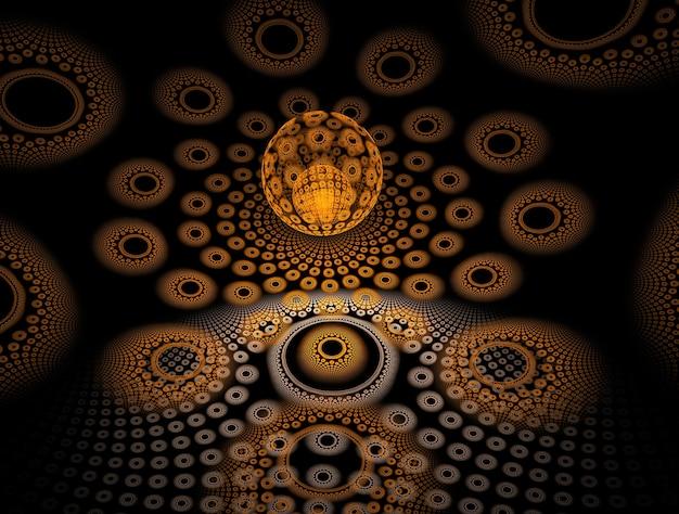 Psytrance luxuriante fractale abstrait