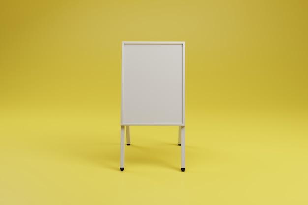 Publicité blanche un stand