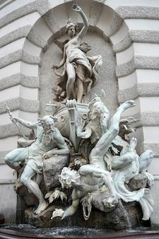 Puissance à la fontaine de la mer à la hofburg à vienne