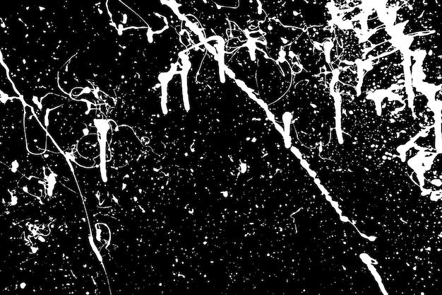 Pulvérisation de pulvérisation abstraite blanche sur fond noir. texture créative.