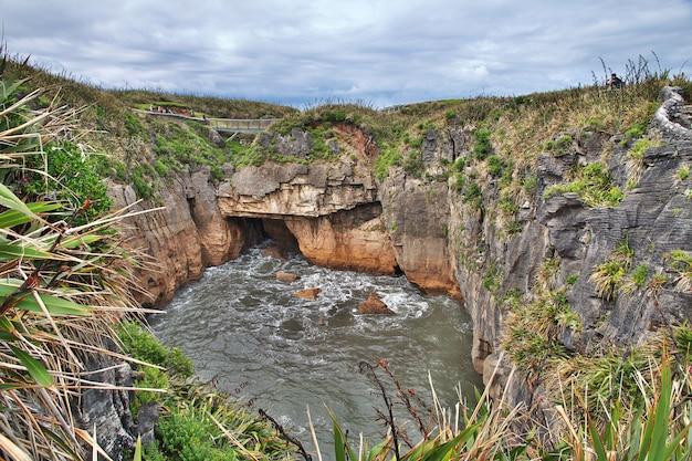 Punakaiki est des crêpes sur l'île du sud, nouvelle-zélande