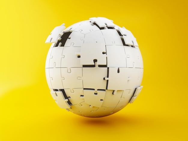 Puzzle 3d sphérique