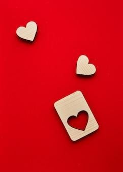 Puzzle coeurs en bois saint valentin
