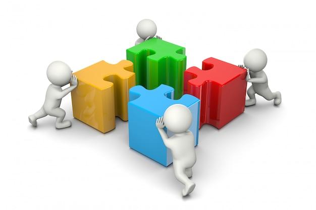 Puzzle coopération concept