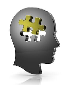 Puzzle tête, une pièce