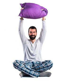 Pyjamas se détendent oreiller positif matin