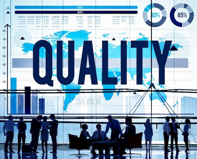Qualité garantie satisfaction meilleur concept d'excellence