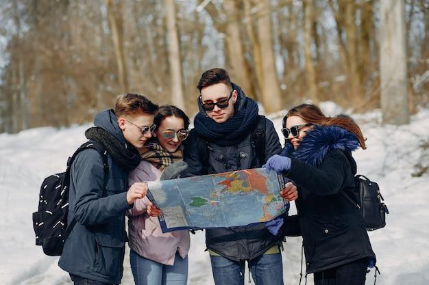 Quatre touristes