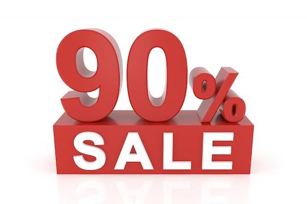 Quatre vingt dix pour cent de vente