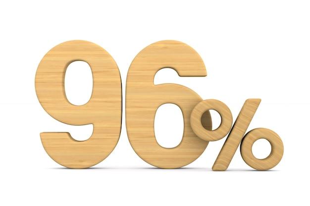 Quatre-vingt seize pour cent sur fond blanc. illustration 3d isolée