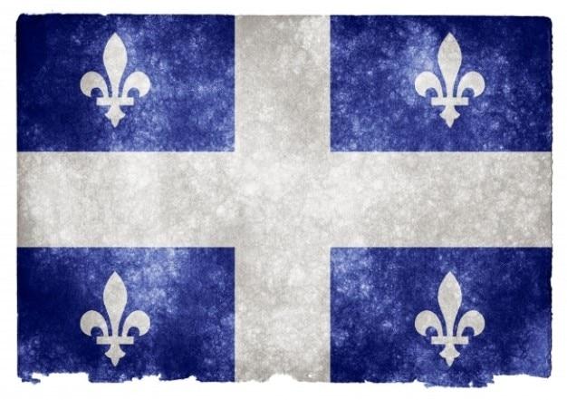 Quebec flag grunge