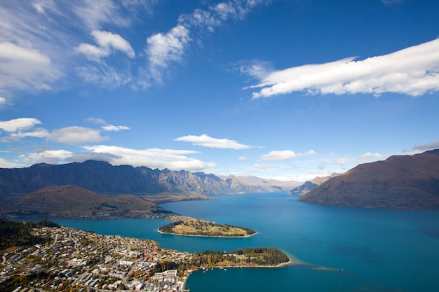 Queenstown avec le lac wakatipu