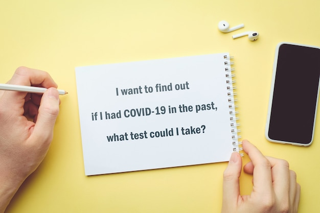 La question sur le coronavirus - je veux savoir si j'ai eu covid-19 dans le passé, quel test pourrais-je passer.