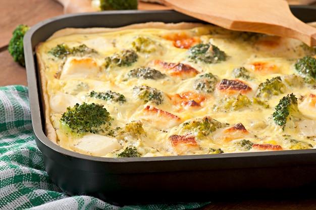 Quiche au brocoli et fromage feta