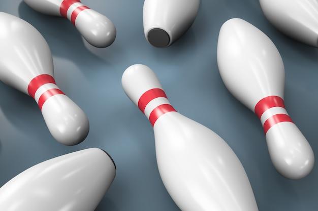 Quilles de bowling éparses. thème sportif.