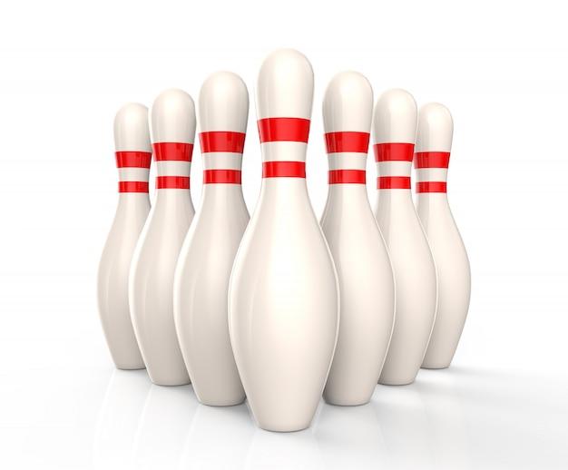 Quilles de bowling isolés