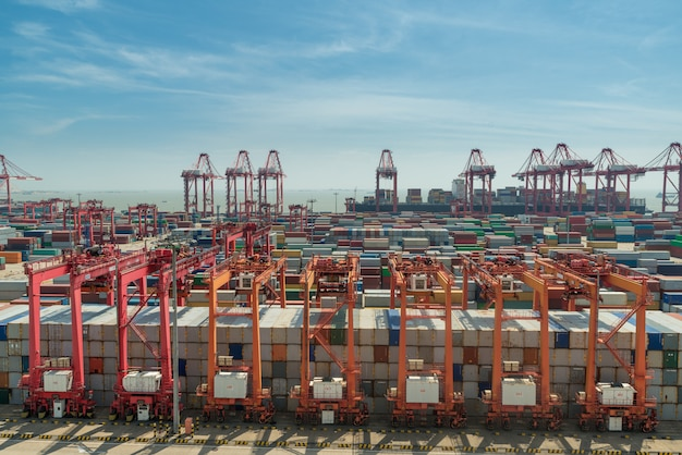 R container box, pour la logistique, le transport, la livraison, l'importation et l'exportation