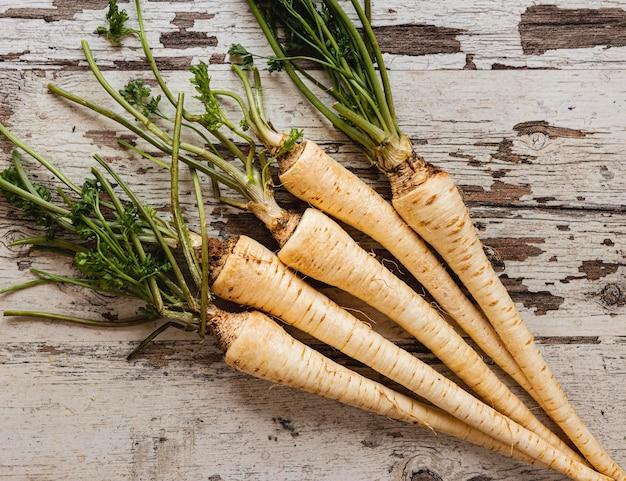 Racines de persil ingrédients naturels sains